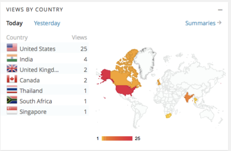 My Geographic Reach, May 14th, 2013
