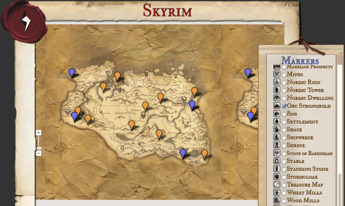 Skyrim Interactive Map