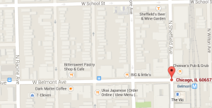 V.I. Warshawski's neighborhood; Chicago, Illinois.