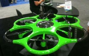 The Leica-Aibotix X6 hexacopter; good for utility line surveys.